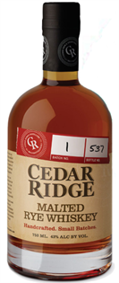 Cedar Ridge Rye Whiskey Malted 750ml